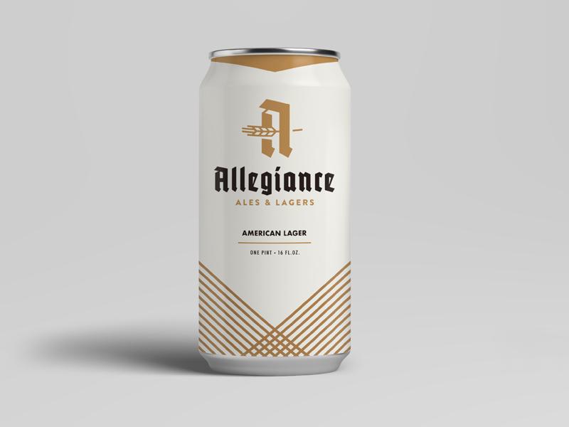 Allegiance Can minimal illustration mockup brewery craft beer label design identity branding can packaging beer