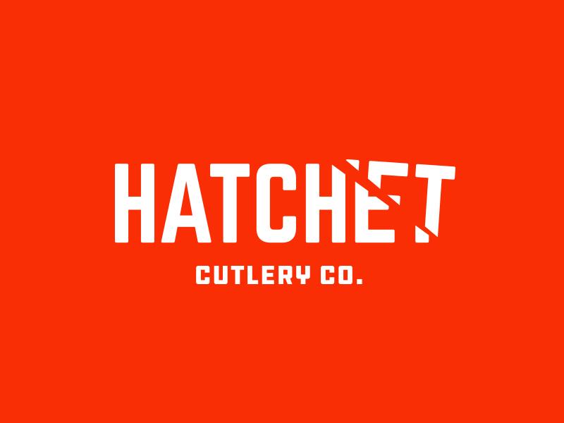 Hatchet vintage throwback negative space logotype logo illustration typography iconic design vector type knife hatchet clever brand identity designer