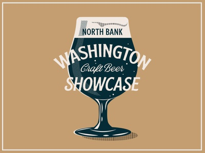 Beer Showcase halftones texture illustration branding craft beer washington poster brewery pint beer
