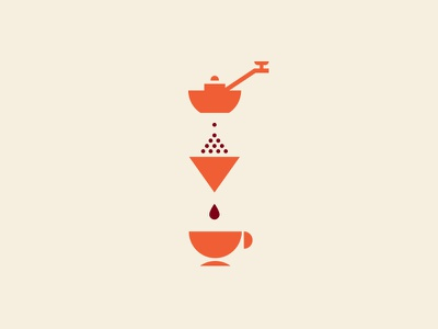 Perfect Equation cafe infograph minimalistic drop cup brewing illustration design icon coffee