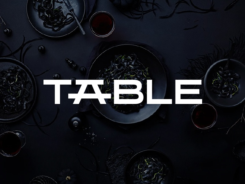 Table bowl food mark typography design clever negative space table branding type lettering logo