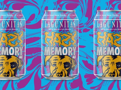 Hazy Memory designer beer branding beer can beer label design craft beer beer design lettering type logo brewery can design can lable design beer label beer