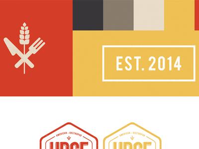 Urge Brand Package branding logo restaurant swatches package