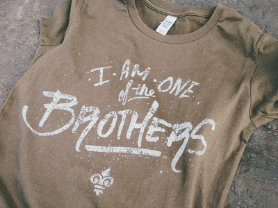 One of the Brothers hand lettering t-shirt brothers provisions