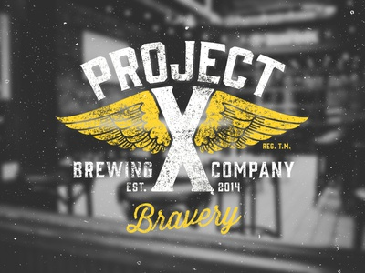 Project X Brew Co. logo brand beer brew