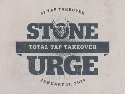 Total Tap Takeover stone brewing urge gastropub stone urge event logo