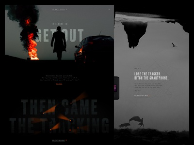Off the Grid cinematic typography covid-19 quarantine web design concept design ui