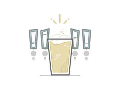 Tap List Illustration brothers provisions beer illustration