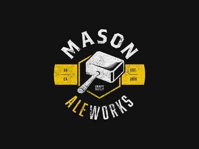 Mason Ale Works Logo brand craft beer san diego brewery beer ale logo