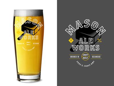 Mason Glassware mason ale works glassware beer