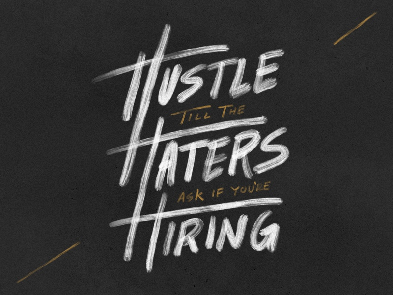Everyday I'm Hustlin' hustle hand lettering procreate ipad pro