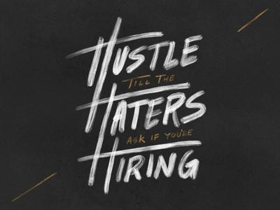 Everyday I'm Hustlin' hustle hand lettering procreate ipad pro