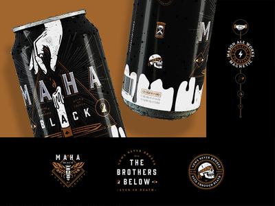 Mason's Secret Society collaboration merch logos secret society packaging branding beer san diego
