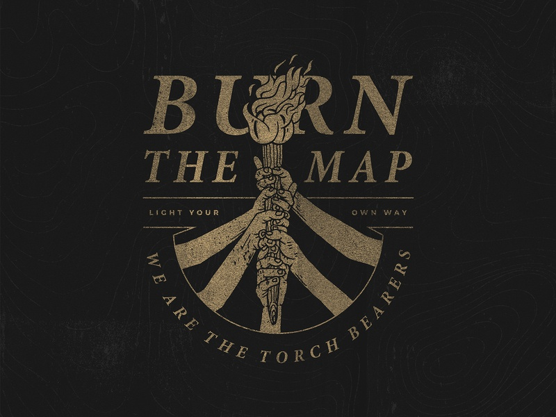 Torch Bearers work in progress illustration vintage typography texture