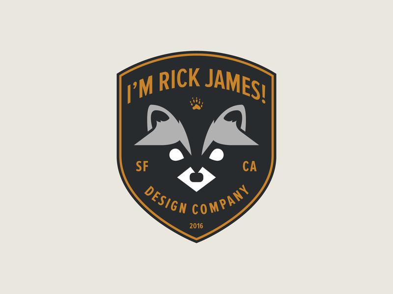Racoon Badge badge design illustration logo