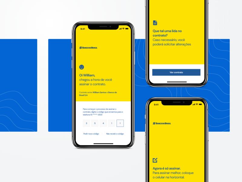 Doc Signature - Banco do Brasil fintech finance bank minimalist app ux design contract document signature banking bank of brazil brazil ui
