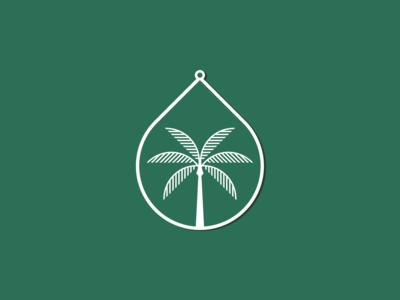 Palm Tree Charm stickermule charm los angeles icon simple badge logo minimal