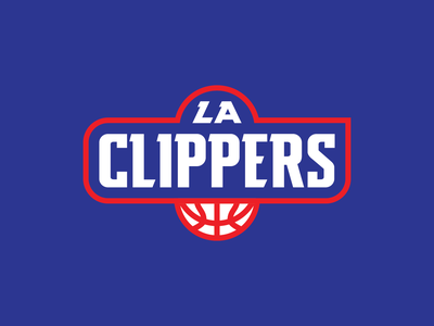 LA Clippers Logo Idea basketball clippers design circle los angeles icon identity simple branding badge logo minimal