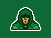 Hooded Man Mascot