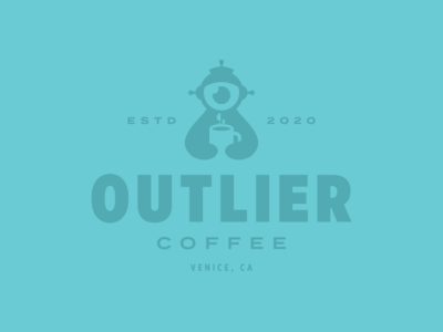 Outlier Coffee Badge Logo Idea