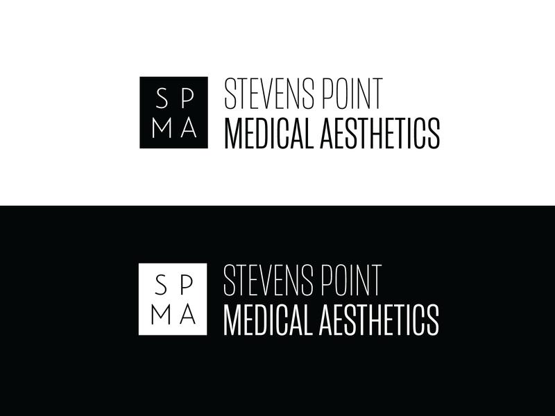 SPMA Logo branding design medical aesthetics logo