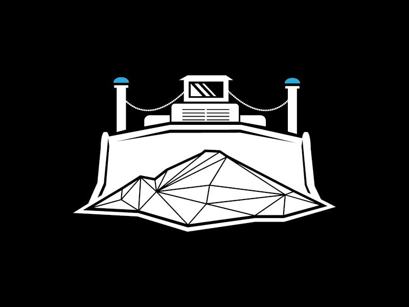 A bulldozer illustration bulldozer illustration logo