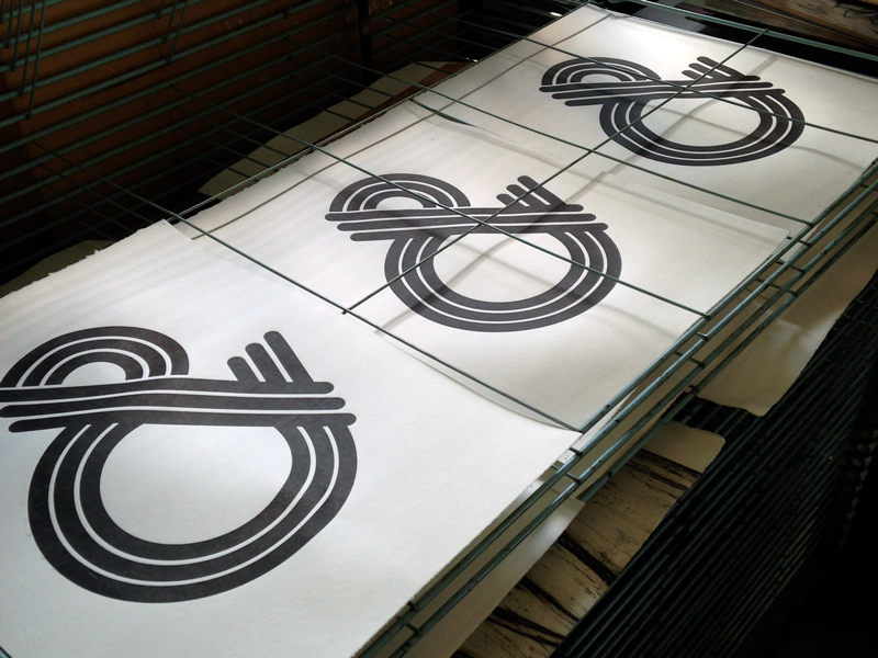 Ampersand Woodblock Print ampersand woodblock print