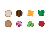 Hamburger Pixel Art
