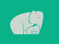 Elephant + Baby