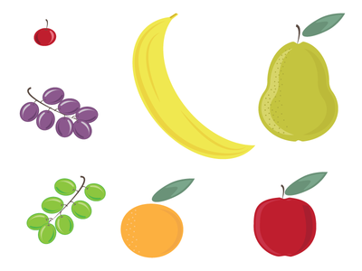 A Variety of Fruits illustration future pattern fruit