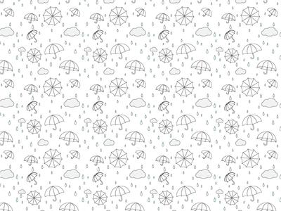 Rainy Day Pattern kids illustration clouds rain umbrella pattern surface