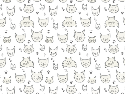 Silly Cats Pattern silly surface pattern illustration cats