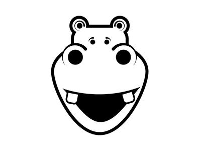 Hippo Logo branding restaurant logo hippo illustration