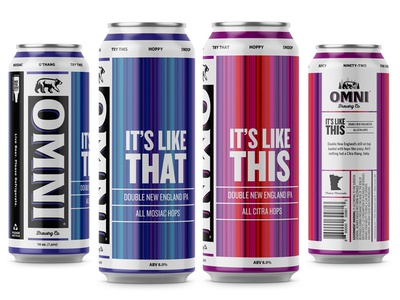 It's Like This & It's Like That design beer package design typography beer can illustration