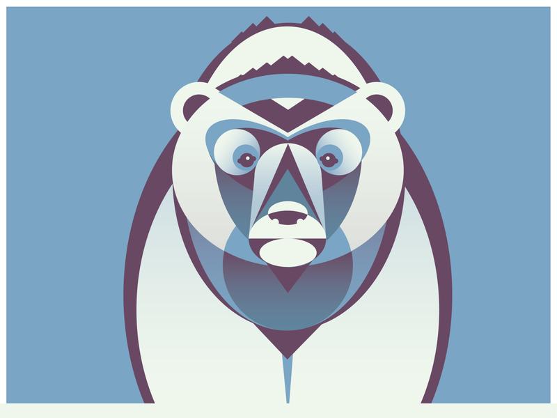 Geometric Polar Bear polar bear design vector illustration