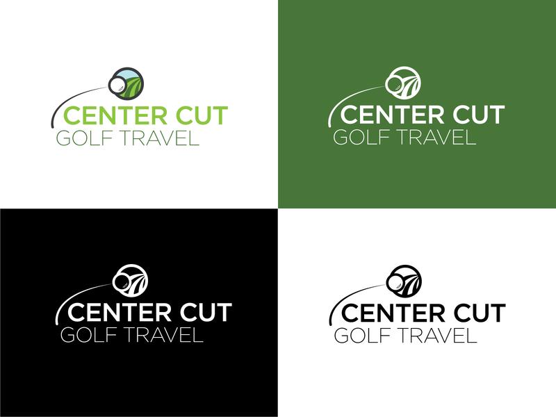 Center Cut Logo branding golf illustration logo