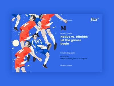 Flux IT Thoughts branding illustration artwork art direction