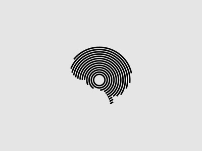 Vinyl + Brain electronica circle logo music brain vinyl