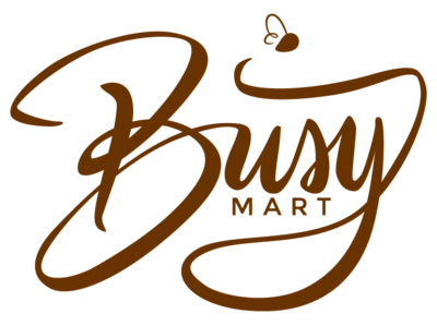 Busy Mart Logo vector typography logo illustration design calligraphy brush branding bee