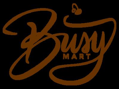 Busy Mart Logo vector typography logo illustration design calligraphy brush branding bee