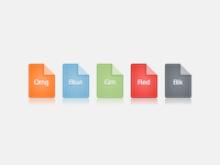 Pure CSS3 document icons