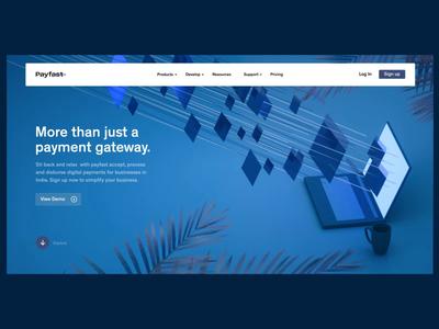 Payfast- Payment Gateway website concepts ui web design otoy cinema 4d minimal 3d shapes clean website user interface 2d animation
