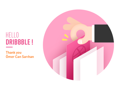 Hello Dribbble shoot first