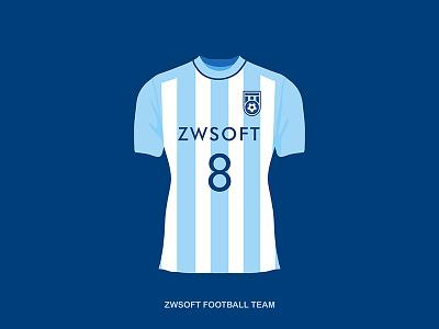 Football team suit suit illustration football