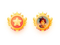 VIP ux logo game icon color design illustration ui