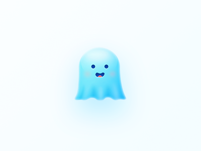 Ghost logo icon design color illustration