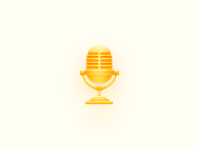 Microphone illustration color design logo icon