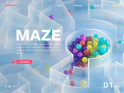 maze web 3d illustration