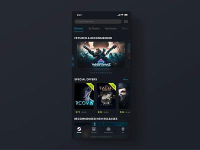 steam gif app design ui