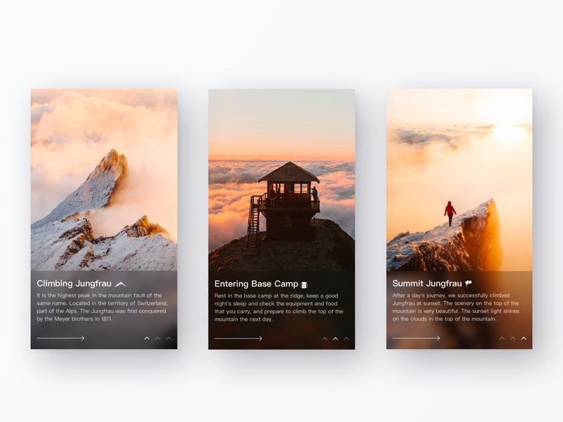 Guide pages ui design uiuxdesign ux icon app color design ui